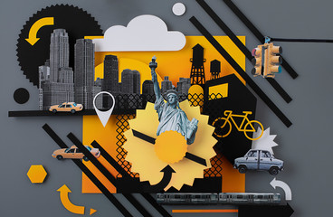 Illustration of New York city