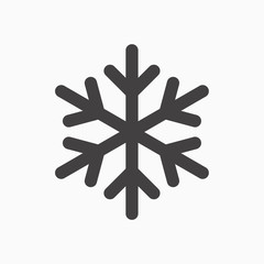 Simple snowflake icon in line style design on white background. For Christmas  decoration and ornaments.