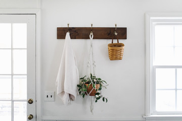 Simple White Entry Way in Home