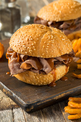 Wall Mural - Homemade Barbecue Roast Beef Sandwhich