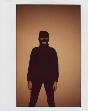 Young woman In Black Balaclava