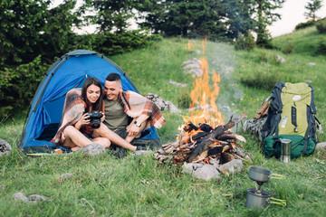 Couple Enjoying Camping