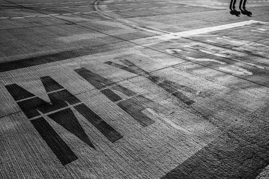 MAX Lettering in the airport runway