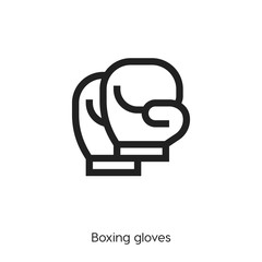 boxing gloves icon. boxing gloves vector symbol. Linear style sign for mobile concept and web design. dolmen symbol illustration. Pixel vector graphics - Vector