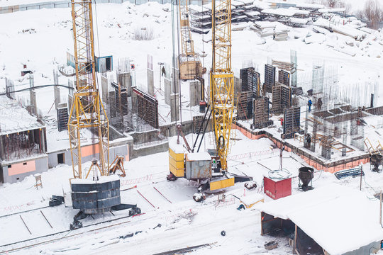 Construction of a multi-storey building began