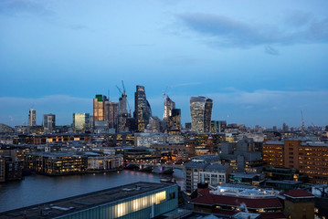 London cityscape during an amazing sunset