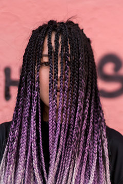 Young woman with box braids