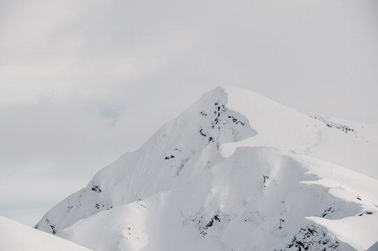 Snowy peak of a mountain