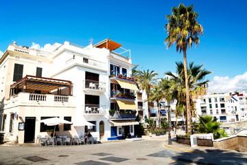 Apartment houses in  Sitges ( Spain )