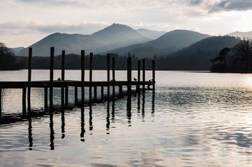 Jetty in Lake District Cumbria