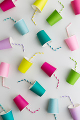 Colorful paper cup background