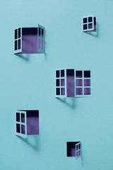 Building with open windows