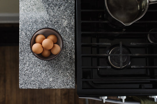 Bowl of Brown Eggs on Kitchen Counter