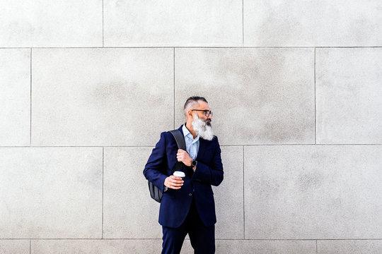 Portrait of handsome senior businessman