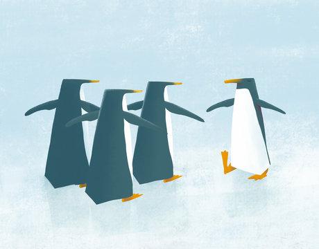 penguin yoga class