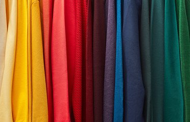 Vibrant fabric of clothes