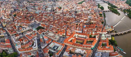 Aerial view of N·m?stÌ Svornosti old town, Czech Republic.