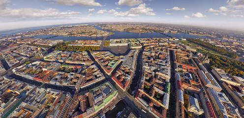 General aerial view of Saint Petersburg, Russia