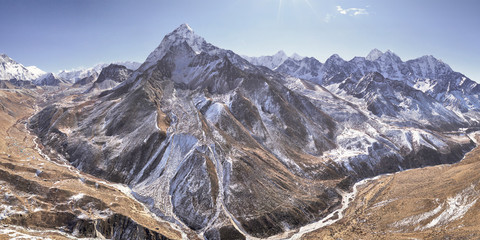 Aerial view of Mount Everest during daylight, Himalayas, Nepal