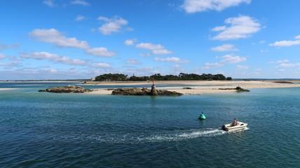 La Turballe, pointe de Pen-Bron vue depuis Le Croisic en Loire-Atlantique (France)