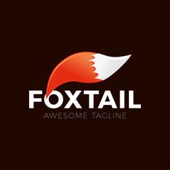 Cartoon fox tail logo vector element icon illustration