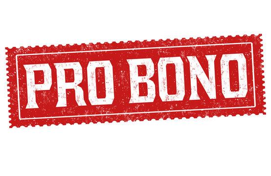Pro bono sign or stamp