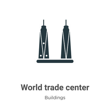 World trade center vector icon on white background. Flat vector world trade center icon symbol sign from modern buildings collection for mobile concept and web apps design.