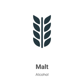 Malt vector icon on white background. Flat vector malt icon symbol sign from modern alcohol collection for mobile concept and web apps design.