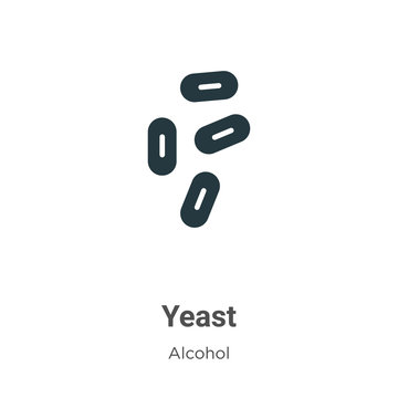 Yeast vector icon on white background. Flat vector yeast icon symbol sign from modern alcohol collection for mobile concept and web apps design.