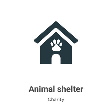 Animal shelter vector icon on white background. Flat vector animal shelter icon symbol sign from modern charity collection for mobile concept and web apps design.