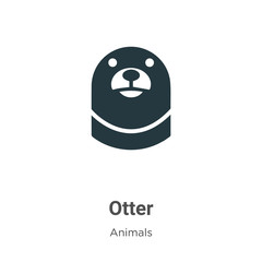 Otter vector icon on white background. Flat vector otter icon symbol sign from modern animals collection for mobile concept and web apps design.