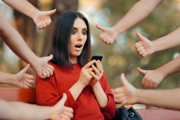 Woman Getting Appreciation on Her Social Media Posts