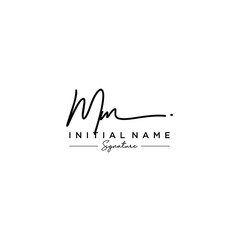 Letter MM Signature Logo Template Vector