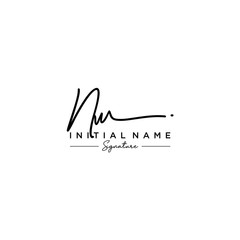 Letter NW Signature Logo Template Vector