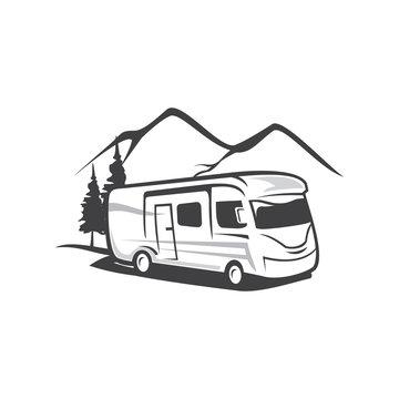 RV Camp Logo, Caravan Logo, Camp Logo