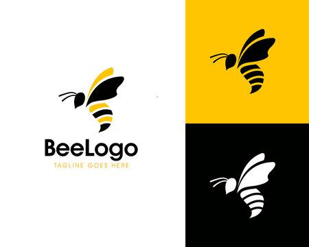 Bee concepts logo design vector Template
