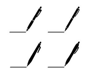 Obraz długopis zestaw ikon - fototapety do salonu