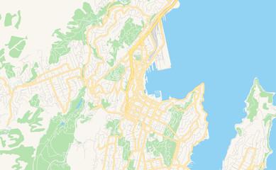 Printable street map of Wellington, New Zealand