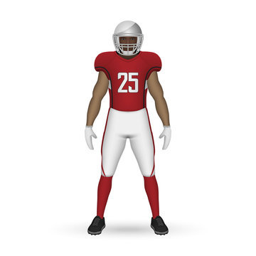 3D realistic American football player
