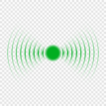Sonar search sound wave icon.
