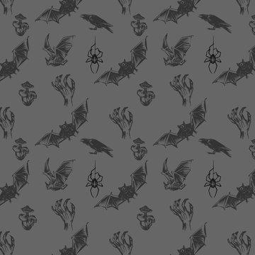 Abstract seamless halloween pattern vector illustration eps10