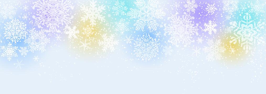 雪の結晶 ブルーパステル