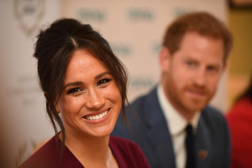 Britain's Meghan, the Duchess of Sussex, and Prince Harry, Duke of Sussex, attend a roundtable discussion on gender equality with The Queen's Commonwealth Trust (QCT) and One Young World at Windsor Castle