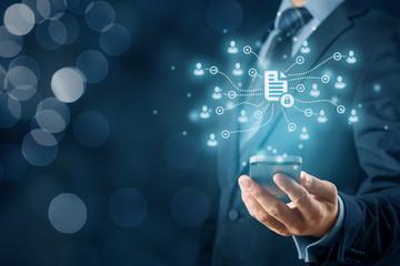 Smart phone app for data management