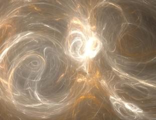 Aluminium Prints Fractal waves image of one Digital Fractal on Black Color