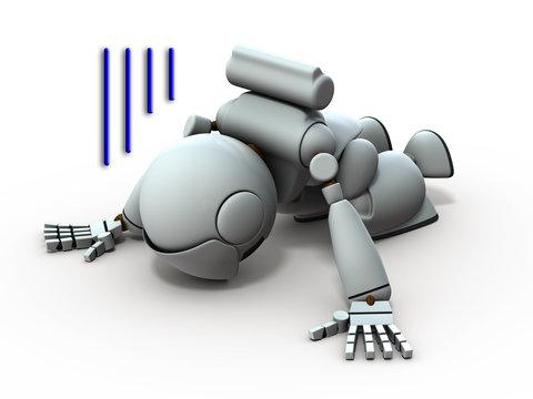 絶望する人口知能のロボット