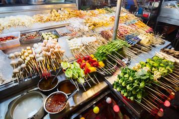 Jalan Alor Street Food Market Kuala Lumpur Malaysia