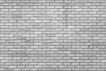 Spoed Foto op Canvas Baksteen muur monochrome grey brick wall with repeating pattern