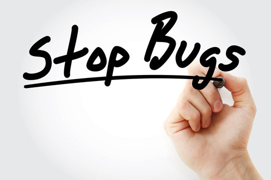Stop Bugs text with marker