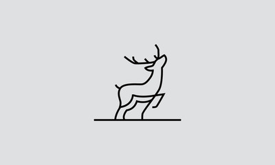 deer line art logo design inspirations